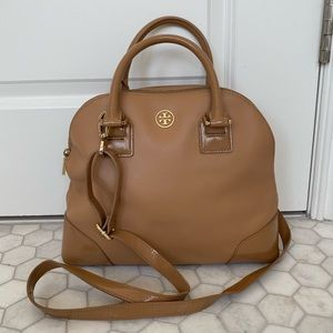 Tory Burch Robinson Small Dome Satchel - Sand